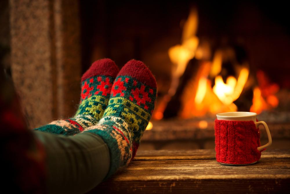 winter fire socks_
